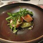 リストランテ カノフィーロ - 知床鶏モモ肉のポルケッタ風 ウドとバジリコの酢味噌和え