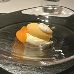 リストランテ カノフィーロ - マンゴーと生姜のジェラート ホワイトチョコのムースとキンカン