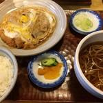 芝その更科 - 煮かつセット(¥900円)