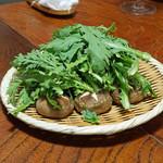 鷹匠壽 - お狩場焼きの野菜