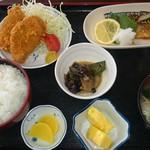 みのり食堂 - 2017/04/08 11:50訪問 ヒレカツ&サバ塩焼き定食
