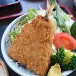 みのり食堂 - 2017/03/08 12:20訪問 アジフライ