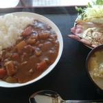 みのり食堂 - 2017/02/02 12:20訪問 カレーライス&ベーコンエッグ定食