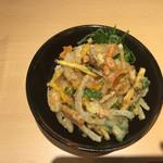 角中うどん店 - 2017/04/06 ミニ野菜かき揚げ丼セット 250円