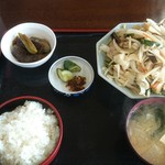 みのり食堂 - 2016/07/27 11:45訪問 野菜炒め定食