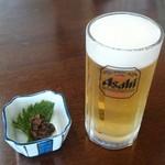 みのり食堂 - 2016/07/20 11:45訪問 生ビール