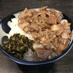 麺やBar 渦 - 【2017.3.30】本格的な魯肉飯(ルーローハン)¥380