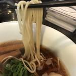 麺やBar 渦 - 【2017.3.30】小麦の風味豊かな中加水細麺。