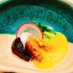 すし六香 - 料理写真:○イイダコ、菜の花の黄身辛子和え様