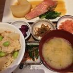 さち福やCAFE - 金目鯛の煮付けと春の竹の子ご飯定食