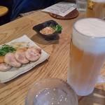 65194535 - まずは生ビール(520円)で乾杯です。