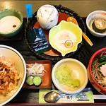 そば処 橋本 - ミニ桜エビ天丼セット