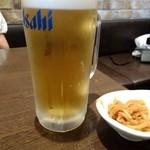 つけそば 麺彩房 - 生ビール