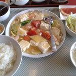 小味園 本店 - 海老と豆腐のいためもの