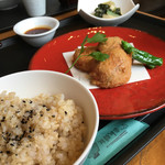 旬穀旬菜カフェ - お上品な豆腐揚げ饅頭ランチ