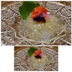65207671 - ①青森産「ヤリイカ」、上海ソースで。 烏賊の甘みを感じるお料理です。ソースも軽めで合いますね。