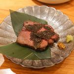 東京肉しゃぶ家 - 牛タンローストと黒トリュフ