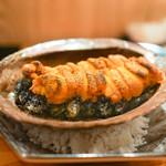 東京肉しゃぶ家 - 黒あわびとウニ焼き
