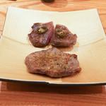 東京肉しゃぶ家 - 牛タン昆布〆焼き2種