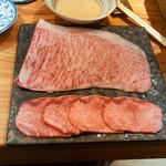 東京肉しゃぶ家 - 牛ロース、タンのしゃぶしゃぶ