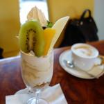 蔵喫茶 杏 - 吟醸アイスクリームパフェ