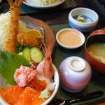 ジャンボ海老まるやま門田店 - 北海道御膳(\1600位)フェアメニュー