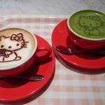 カフェドミキ ウィズ ハローキティ - カフェラテ&抹茶ミルク