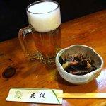 花紋 - 松前漬とビール