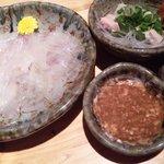 Yuuzansakanaryouri - かわはぎ肝醤油