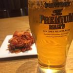 和牛焼肉 KINZO - ビールで乾杯!