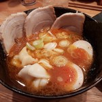 65220329 - 【2017/4】辛味つけ汁+チャーシュー玉子+水餃子