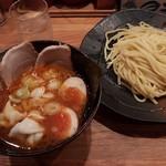 65220331 - 【2017/4】辛味つけ麺(並)+チャーシュー味玉+水餃子