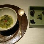 65223232 - あおさ海苔ともち米の食前粥・山菜ナムル