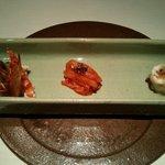 65223250 - 前菜(車海老、白イカ、鱈)