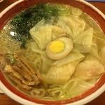 広州市場 - 清湯海老雲呑麺(塩)