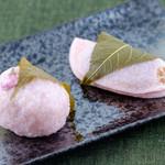 元町 香炉庵 - 桜餅(道明寺、長命寺)