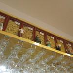イタリアンバール ブォングスタイオ - パスタの種類が飾られています