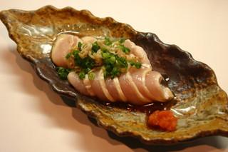 らんまる - 総州古白鶏のタタキ ¥450