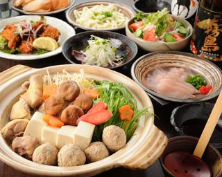 らんまる - しゃぶしゃぶ鶏鍋\4000コース 美桜鶏のしゃぶしゃぶ鶏鍋を中心にしたコース