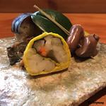 ほむら - 菊花巻に鶏レバーにハツの松葉串