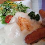 ブランニューデイ - 料理写真:中からスクランブルエッグ