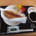 タリーズコーヒー - モーニング:プレーンホットドッグ&ホット珈琲