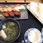 6524890 - いくら&サーモン鮨と天ぷらのセット:2010年12月