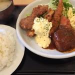 65242014 - ミックスフライセット ご飯大盛り(1000円 +100円)