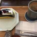 65248972 - 抹茶ショコラ&アメリカーノ