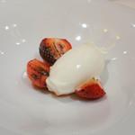 ウェスタ - 炙りイチゴと牛乳アイス