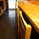 和食処おおつぼ - カウンター席で、スタッフたちとお話させていただきながらいただきます(2017.4.10)