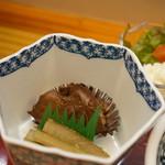 和食処おおつぼ - 鶏肝と、牛蒡(2017.4.10)