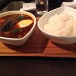 スープカレー屋 鴻 神田駿河台店 - 黒スープの野菜カレー800円