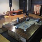 日本料理 筑膳 - 囲炉裏席にて・・。